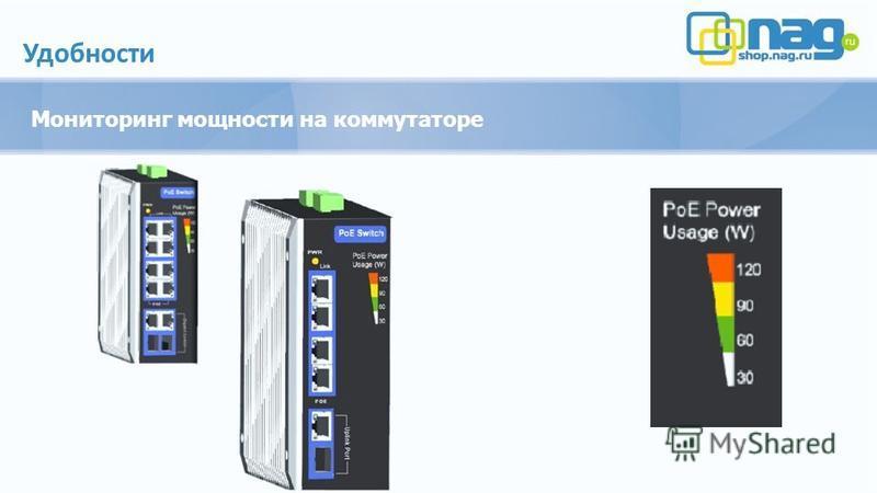 Удобности Мониторинг мощности на коммутаторе