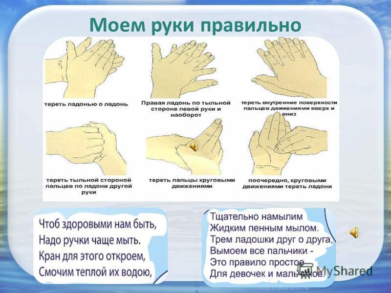 5 Моем руки правильно
