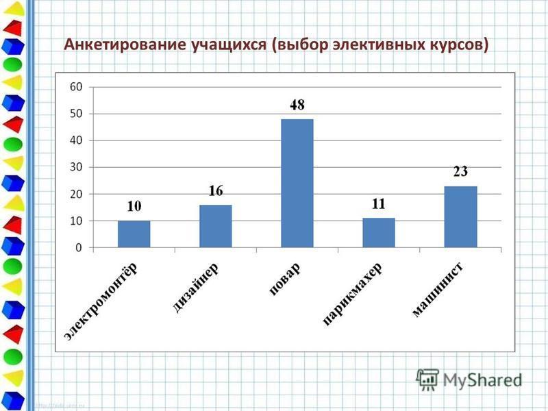 Анкетирование учащихся (выбор элективных курсов)