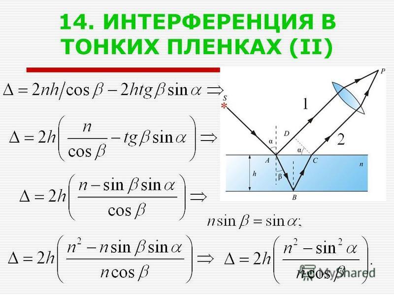 14. ИНТЕРФЕРЕНЦИЯ В ТОНКИХ ПЛЕНКАХ (II)