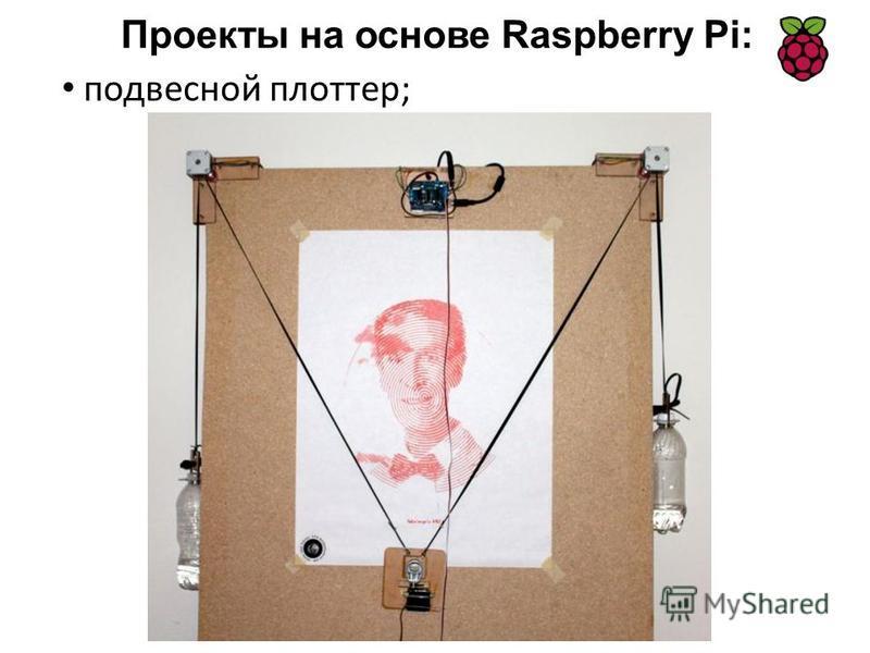 подвесной плоттер; Проекты на основе Raspberry Pi: