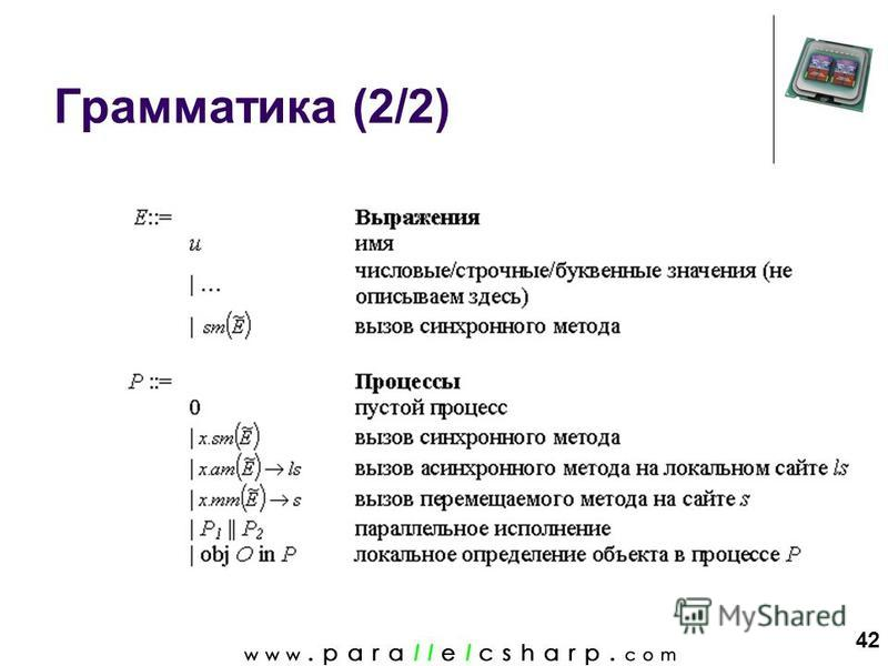 42 Грамматика (2/2)