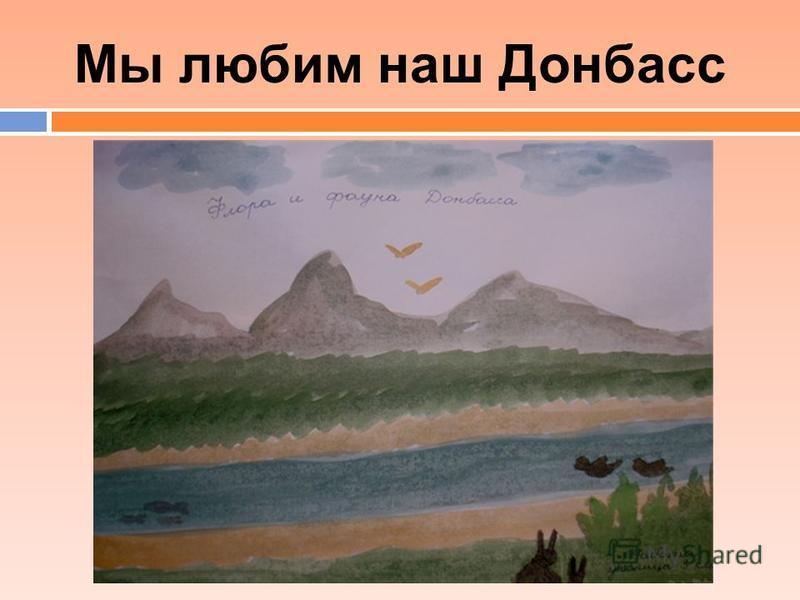 Мы любим наш Донбасс