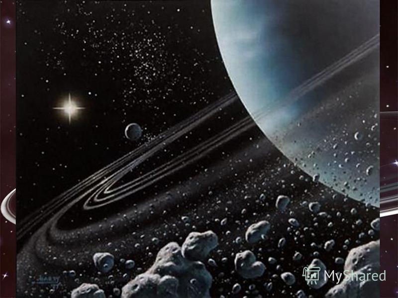 Уран Там темно і холодно. Температура дорівнює -200 °С, а Сонце видається далекою яскравою зорею. Планету відкрив Вільям Гершель у 1781 р. за допомогою саморобного телескопа. Апарат Вояджер-2 у 1986 р. зробив якісні фотографії планети, її 11 кілець т
