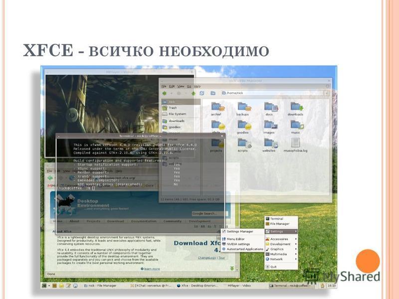 XFCE - ВСИЧКО НЕОБХОДИМО
