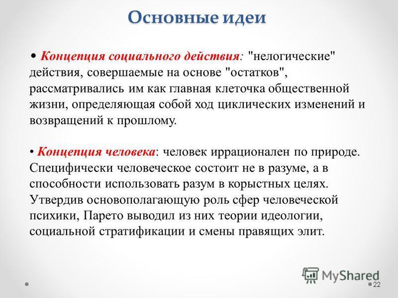 22 Концепция социального действия: