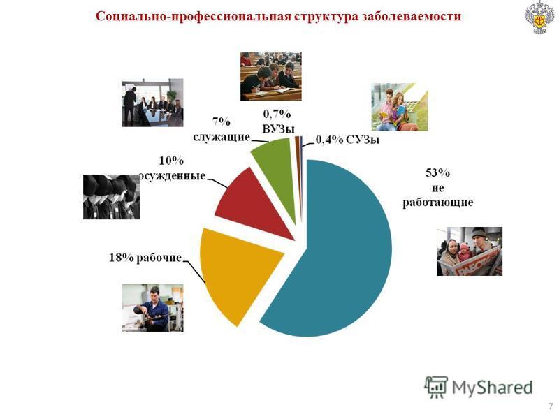 Социально-профессиональная структура заболеваемости 7