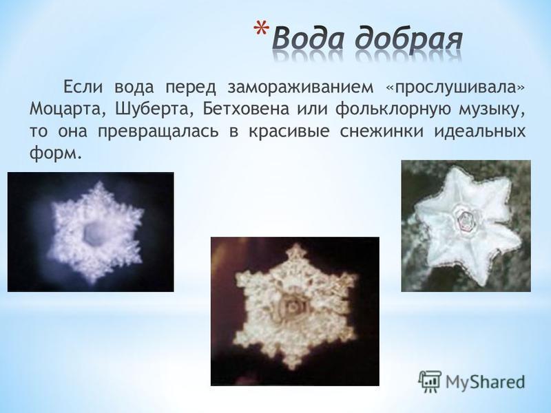 В журнале «На грани невозможного» была опубликована удивительная статья. Японский ученый, доктор Эмото Масару замораживал капельки воды и затем изучал их под сильным микроскопом, имеющим встроенную фотокамеру.