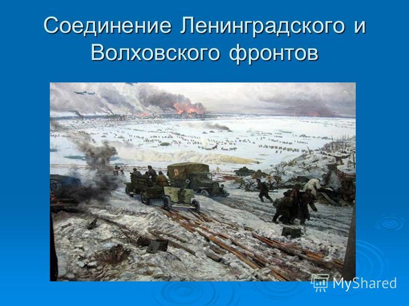 Соединение Ленинградского и Волховского фронтов