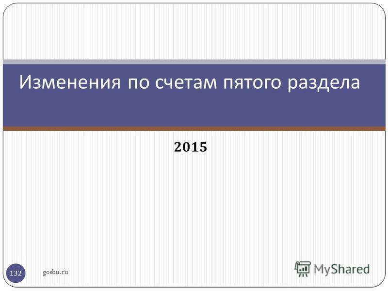 2015 Изменения по счетам пятого раздела gosbu.ru 132