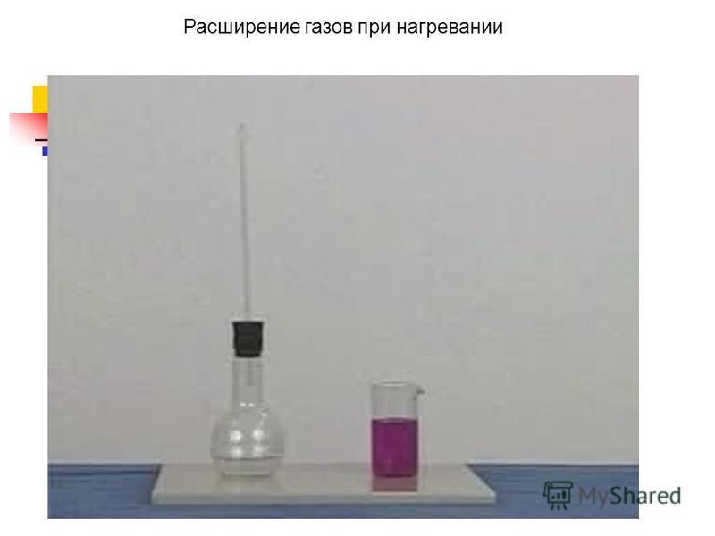 Расширение газов при нагревании