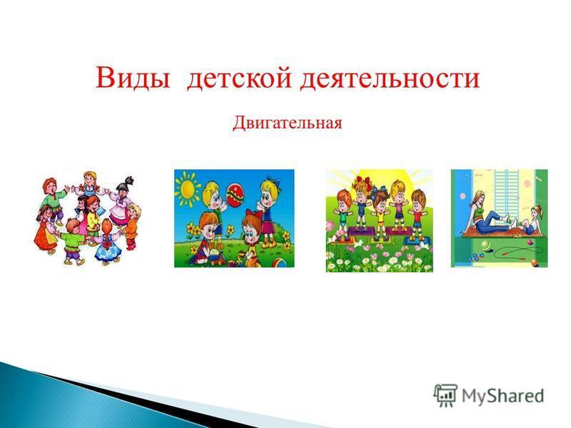 Виды детской деятельности Двигательная