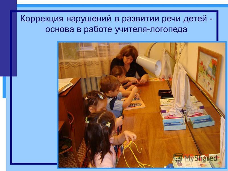 Коррекция нарушений в развитии речи детей - основа в работе учителя-логопеда