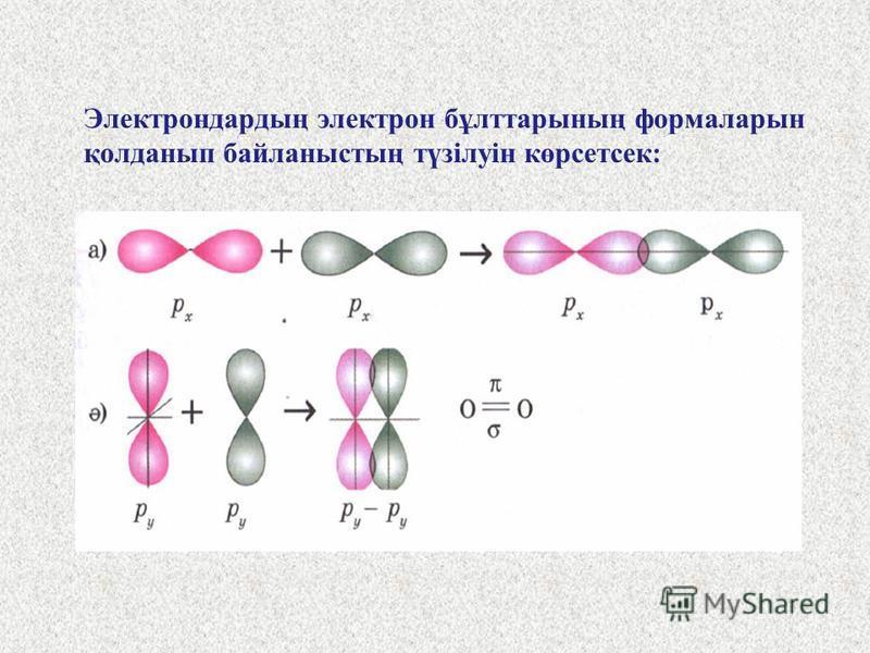 Электронды-графикалық формуласын қарасақ, валенттілік электрондар саны 6, оның екеуі дара күйінде, міне, осы электрондар екінші оттек атомындағы дәл осындай электрондармен екі жұп түзеді, яғни байланыс саны екі. Енді әр атом ядросын 8 электроннан айн