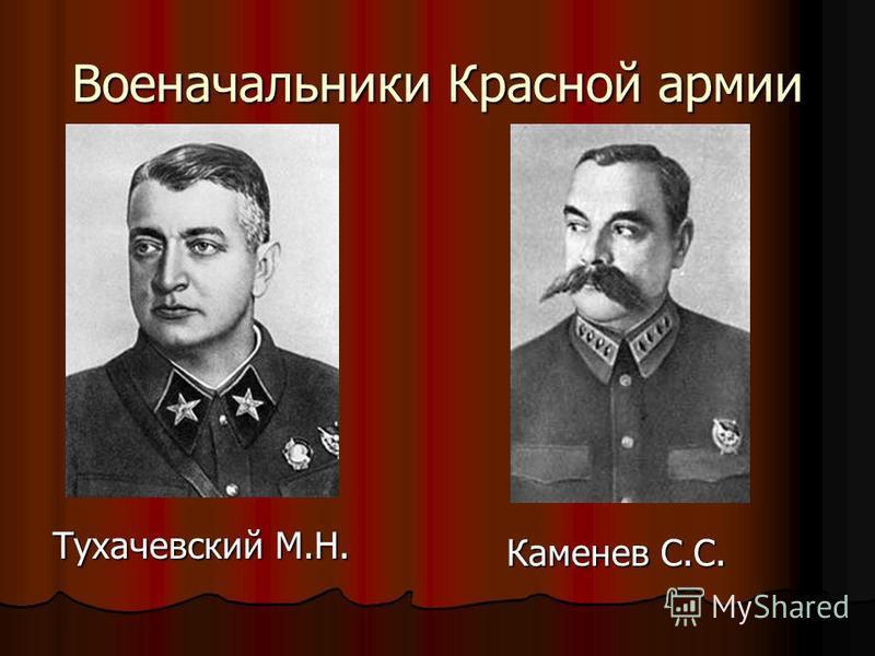 Военачальники Красной армии Тухачевский М.Н. Каменев С.С. Каменев С.С.