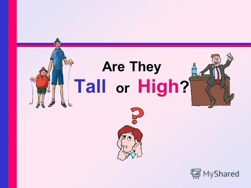 Are They Tall or High ?