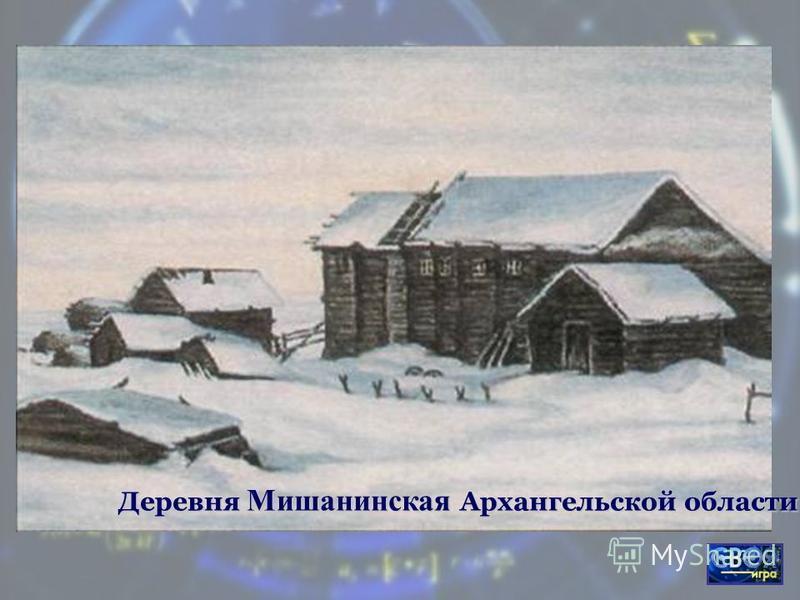 Деревня Мишанинская Архангельской области