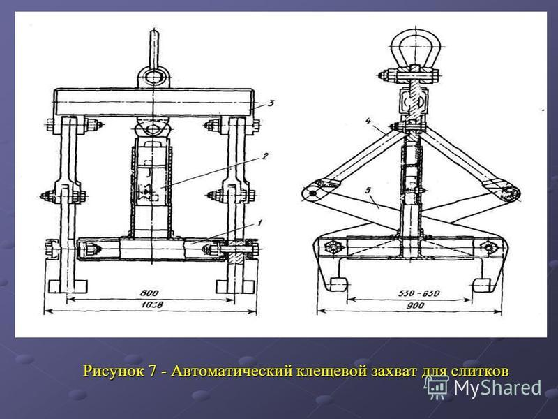 Рисунок 7 - Автоматический клещевой захват для слитков