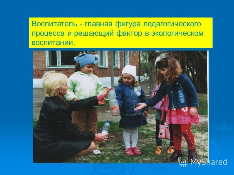Воспитатель - главная фигура педагогического процесса и решающий фактор в экологическом воспитании.