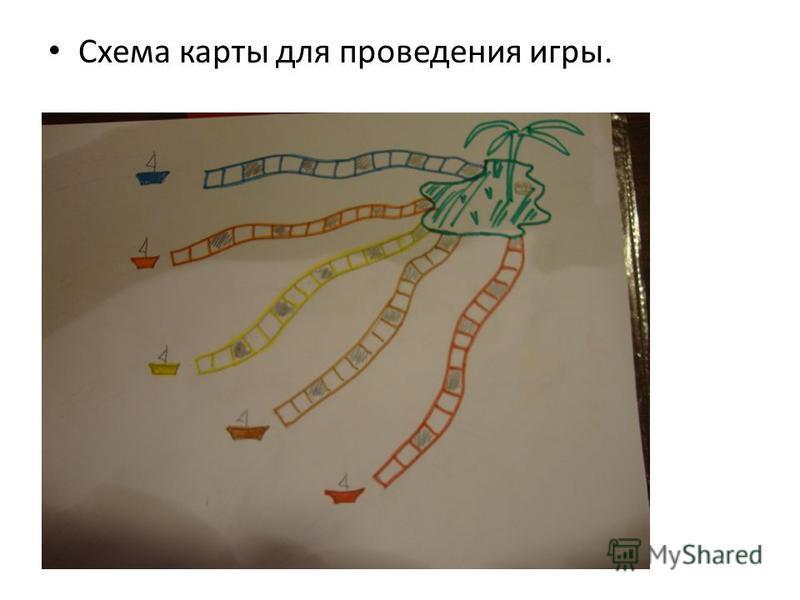 Схема карты для проведения игры.