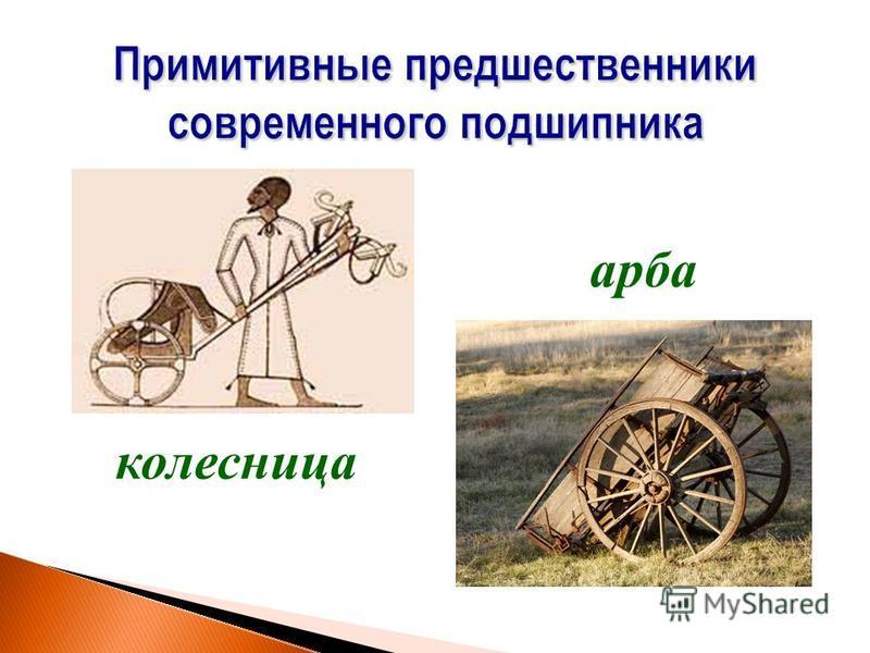 Примитивные предшественники современного подшипника колесница арба
