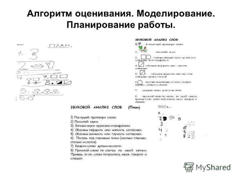 Алгоритм оценивания. Моделирование. Планирование работы.