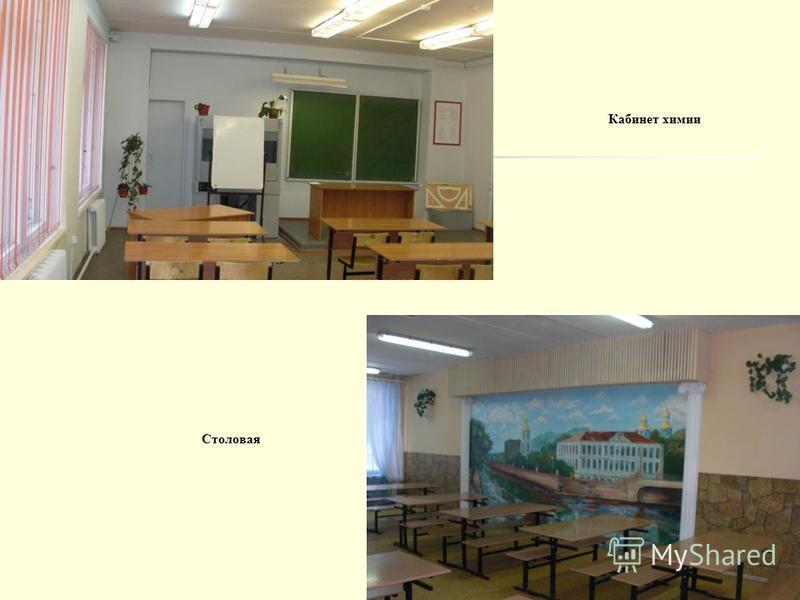 Кабинет химии Столовая