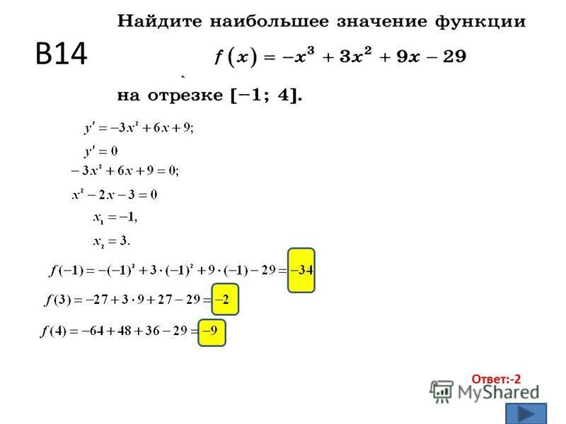 B14 Ответ:-2