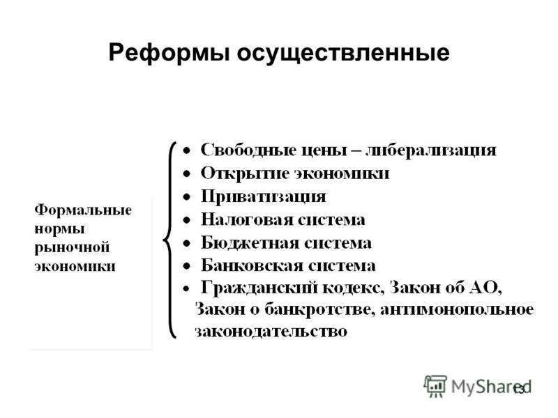 Реформы осуществленные 13