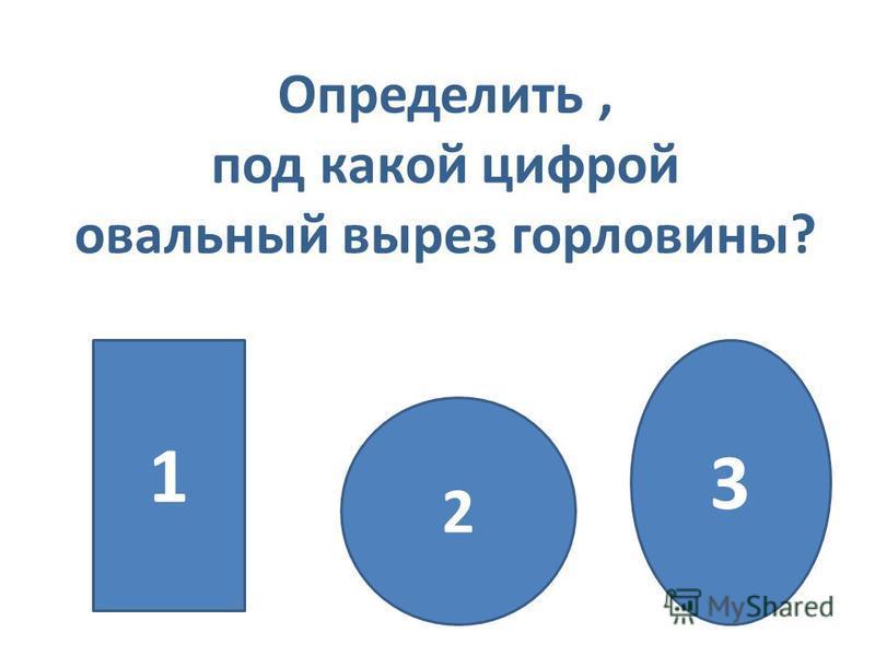 Определить, под какой цифрой овальный вырез горловины? 2 1 3