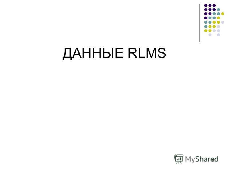 83 ДАННЫЕ RLMS