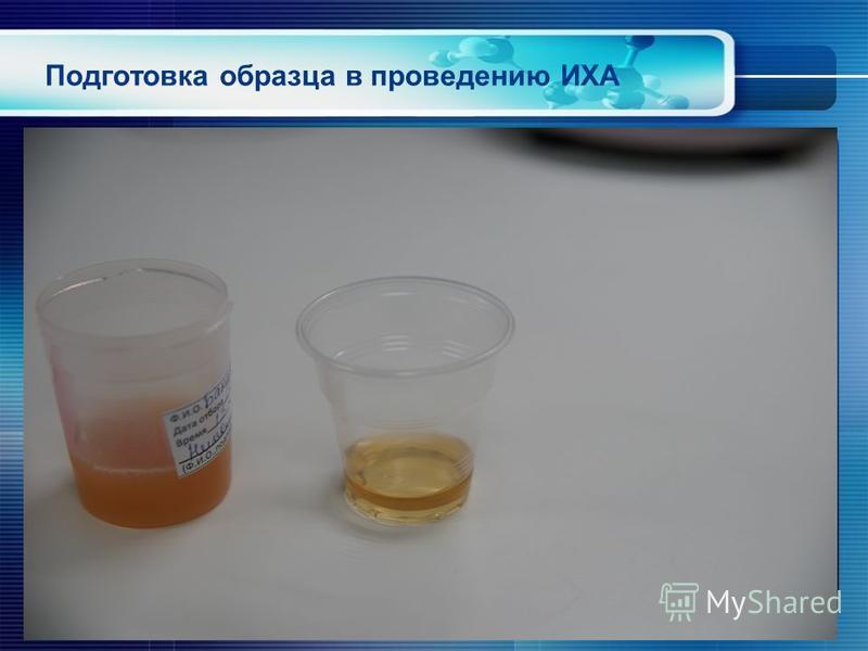 Подготовка образца в проведению ИХА