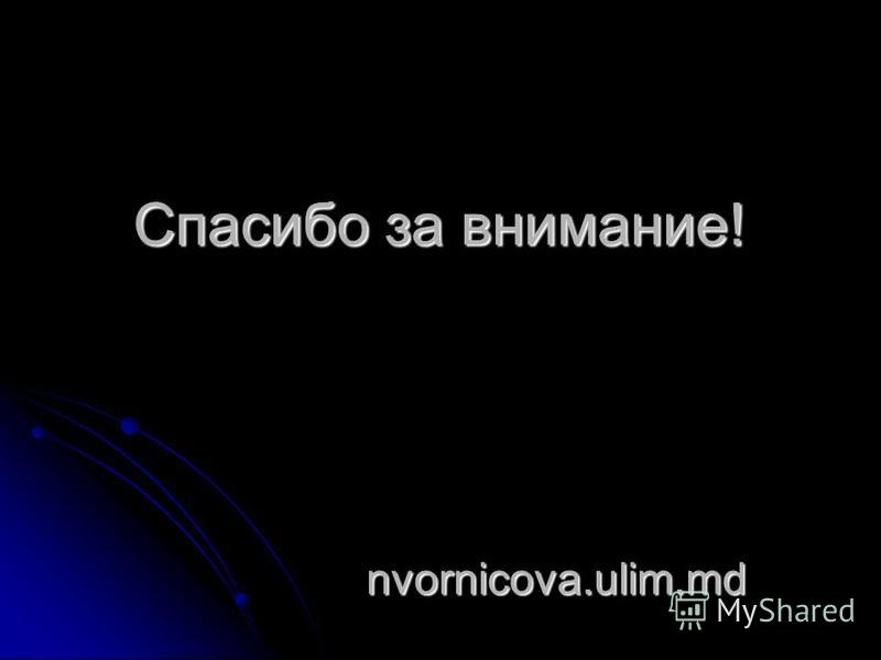 Спасибо за внимание! nvornicova.ulim.md