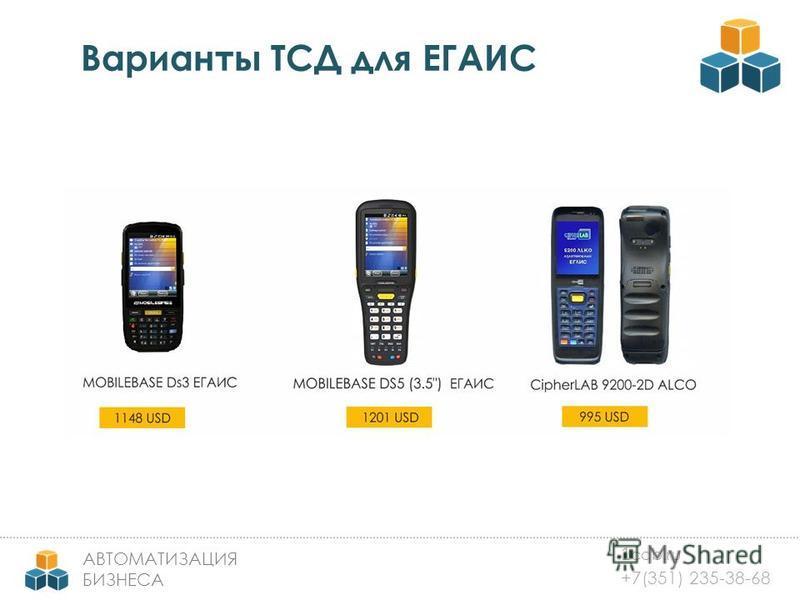 1 cab.ru +7(351) 235-38-68 АВТОМАТИЗАЦИЯ БИЗНЕСА Варианты ТСД для ЕГАИС