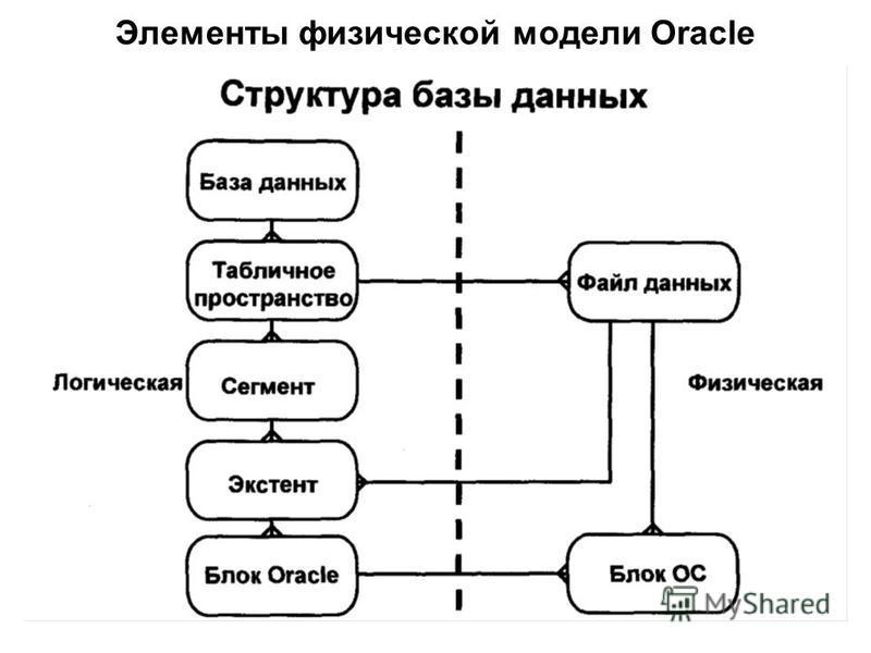 Элементы физической модели Oracle