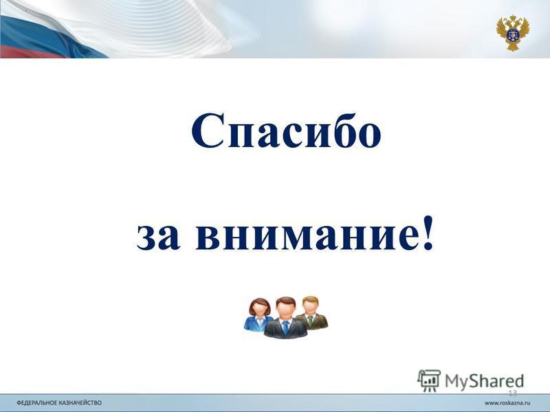 . 13 Спасибо за внимание!