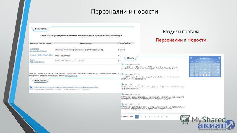 Персоналии и новости Разделы портала Персоналии и Новости
