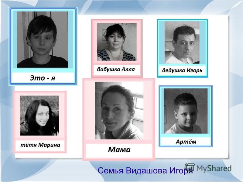 Семья Видашова Игоря