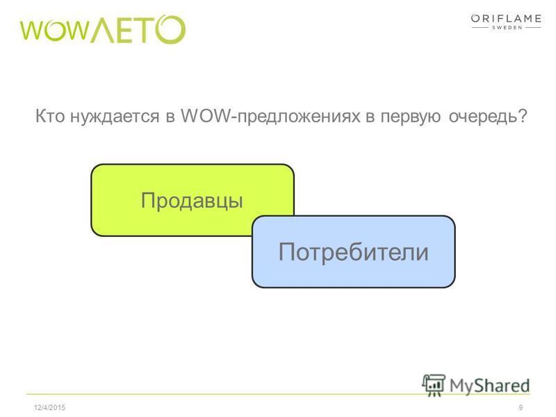 912/4/2015 Кто нуждается в WOW-предложениях в первую очередь? Продавцы Потребители