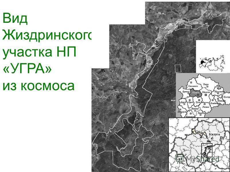 Вид Жиздринского участка НП «УГРА» из космоса