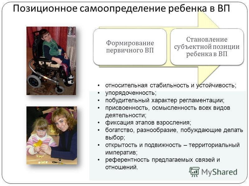 Cильный ум должен быть воспитан Формирование первичного ВП Становление субъектной позиции ребенка в ВП относительная стабильность и устойчивость; упорядоченность; побудительный характер регламентации; присвоенность, осмысленность всех видов деятельно