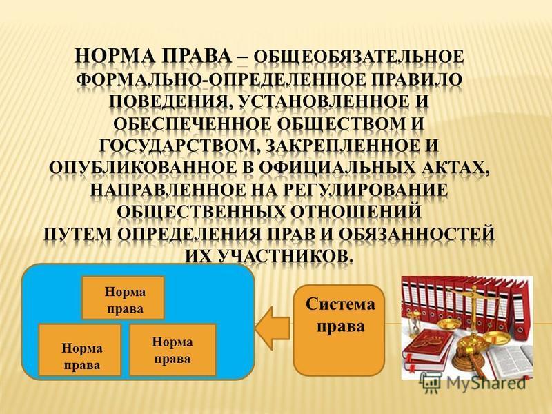 Система права Норма права