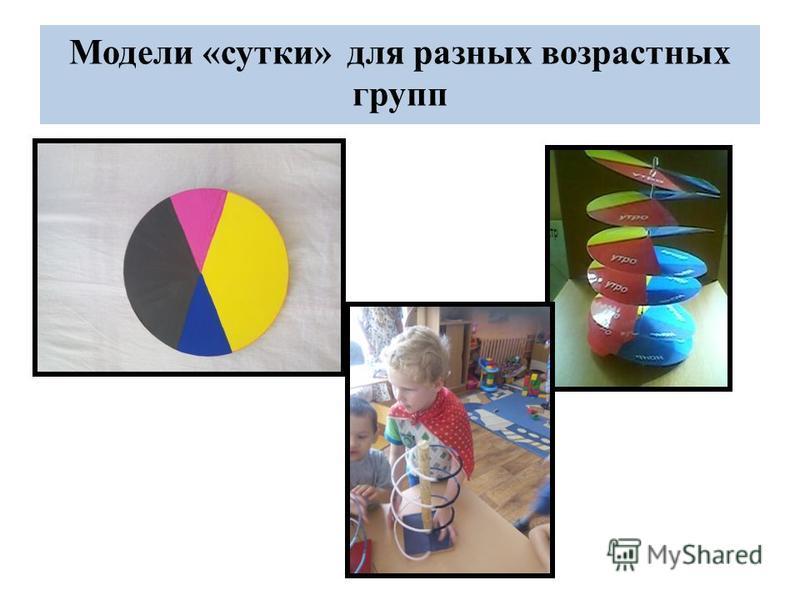 Модели «сутки» для разных возрастных групп
