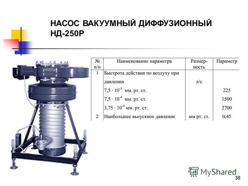 38 НАСОС ВАКУУМНЫЙ ДИФФУЗИОННЫЙ НД-250Р