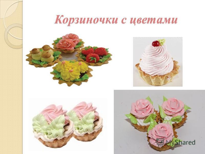 Корзиночки с цветами