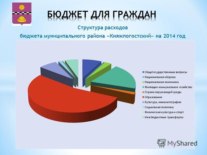 Структура расходов бюджета муниципального района «Княжпогостский» на 2014 год