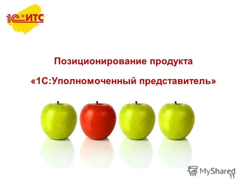11 Позиционирование продукта «1С:Уполномоченный представитель»