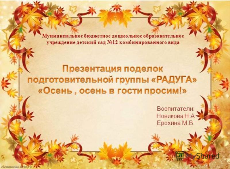 Воспитатели: Новикова Н.А Ерохина М.В.