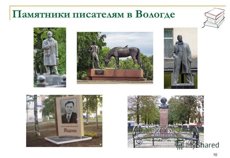 10 Памятники писателям в Вологде