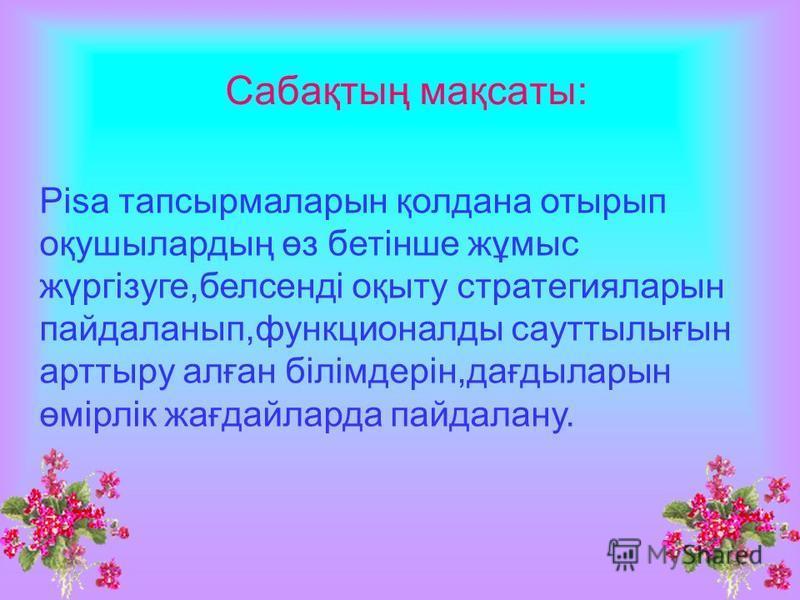 Тақырыбы: Орындағандар: Н.Х Алиева
